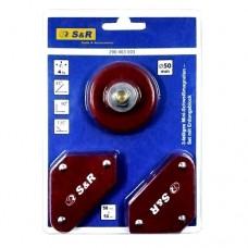Набор для сварки S&R 3шт.: магнитные угольники 2шт., блок заземления 1шт.