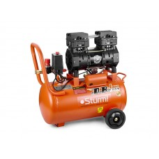Компрессор 50 л, 1.5 кВт, 8 атм, 209 л/мин, малошумный, безмасляный, 2 цилиндр Sturm AC93250OL
