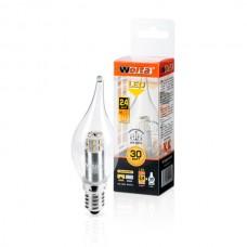 Светодиодная лампа Wolta 2,4 Вт (30Вт)  E14, теплый 25YCDT2.4E14